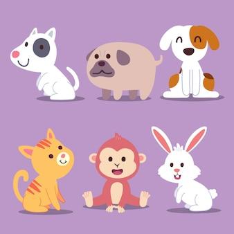 Dessin dessin animé avec animal faune