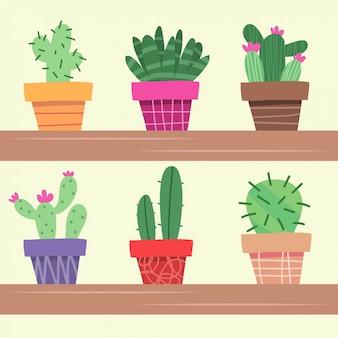 Dessin de dessin animé avec cactus