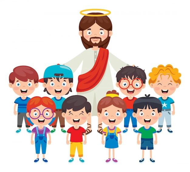 Dessin de dessin animé de jésus-christ