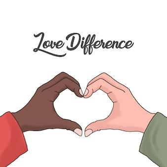 Dessin de différence d'amour