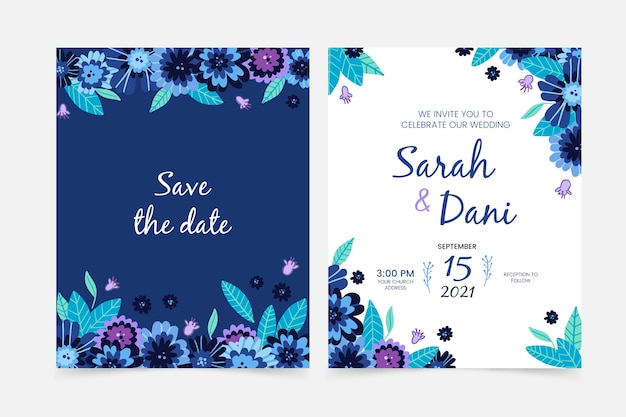 Dessin du thème de l'invitation de mariage
