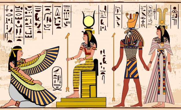 Dessin égyptien antique