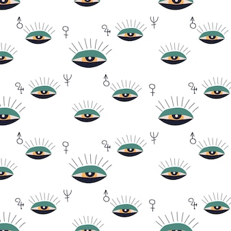 Dessin d'esquisse. illustration vectorielle ésotérique, motif. oeil abstrait.