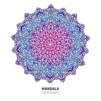Dessin de fleurs de mandala.