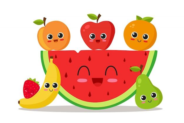 Dessin de fond de fruits