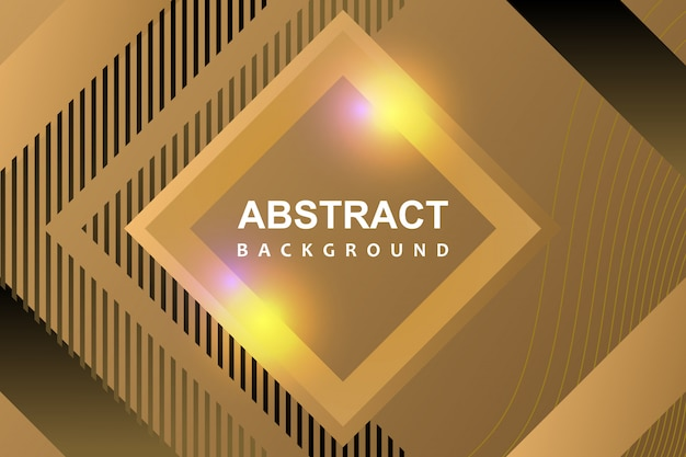Dessin géométrique abstrait de luxe fond moderne avec des couleurs or
