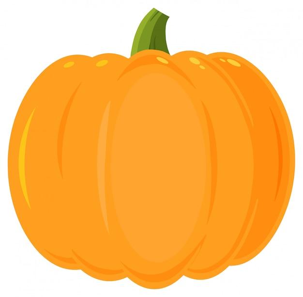 Dessin de légumes citrouille orange plat design simple