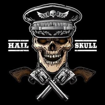 Dessin à la main armée de crâne