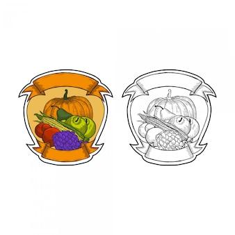 Dessin à la main de légumes