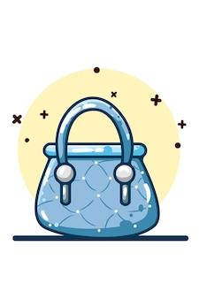 Dessin à la main sac bleu