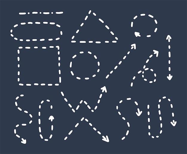 Dessin à la main de style doodle. flèches de différentes formes, pointeurs. illustration vectorielle isolée.