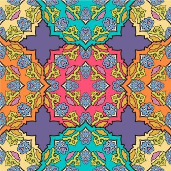 Dessin de mandala coloré