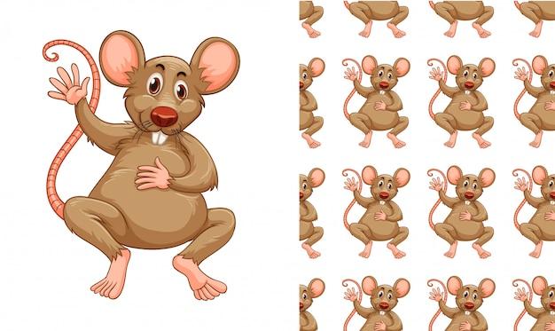 Dessin de modèle de rat isolé