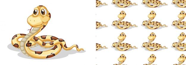 Dessin de modèle de serpent isolé