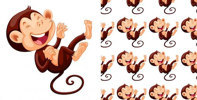Dessin de modèle de singe isolé