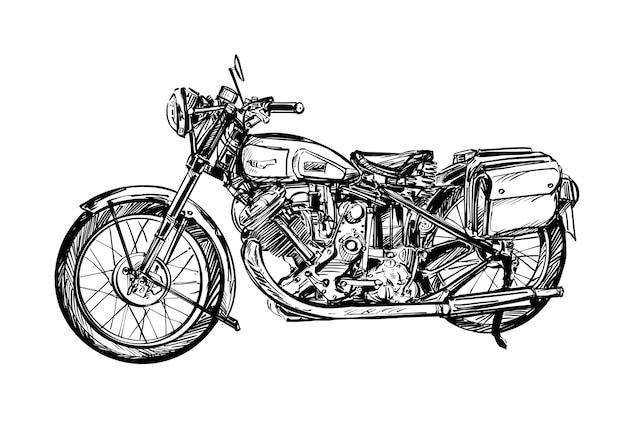 Dessin de la moto classique