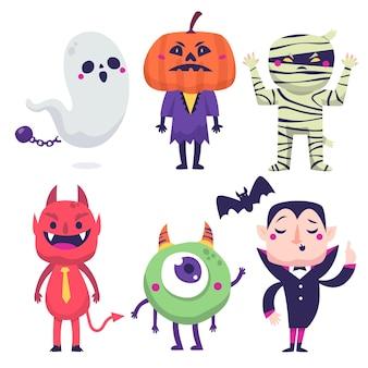 Dessin de personnages d'halloween