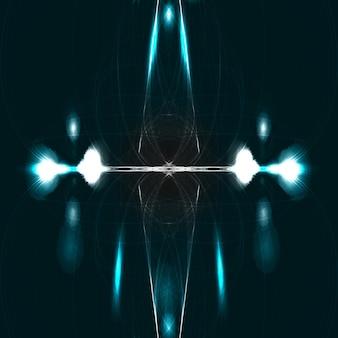 Dessin de technologie abstraite, fond d'espace brillant, illustration magique
