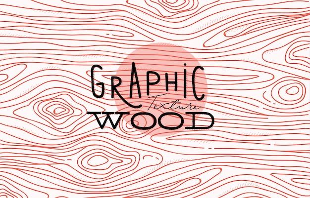 Dessin de texture graphique en bois avec des lignes de corail