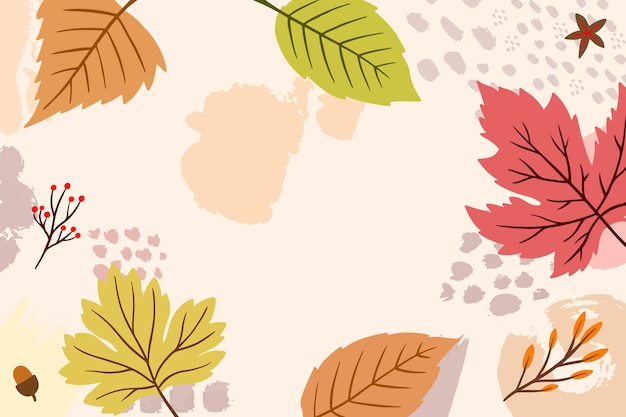 Dessin de thème de fond d'écran d'automne