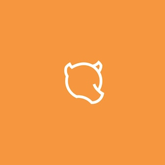 Dessin trait ours conception logo minimaliste simple inspiration illustration vectorielle