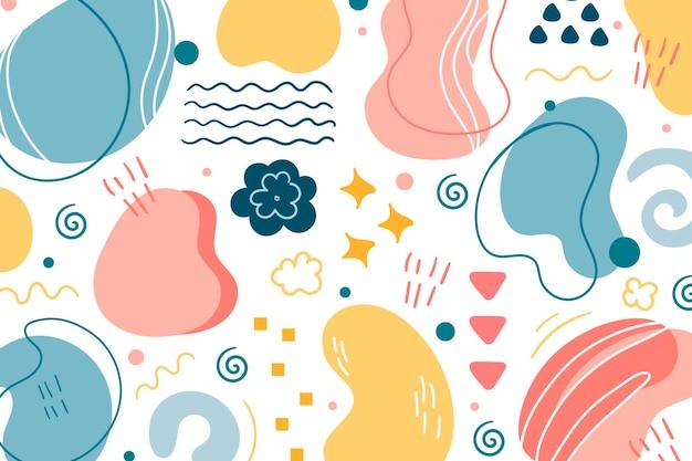Dessin vectoriel sans soudure. contexte pour l'impression de brochures, d'affiches, d'impression d'été. couleurs pastel.