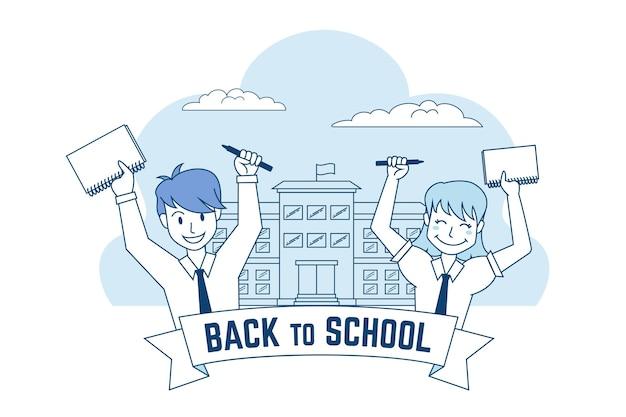 Dessiné à la main au fond de l'école