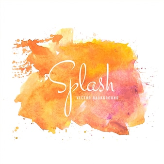 Dessiné de main coloré splash aquarelle douce coloré