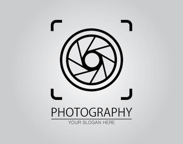 Dessiné à la main du modèle de conception d'icône de logo de photographie d'appareil photo