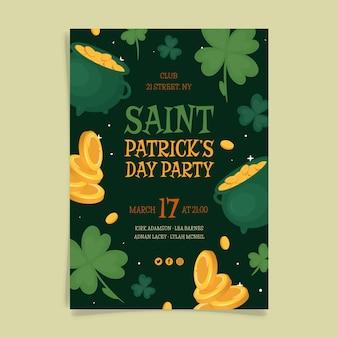 Dessiné à la main st. flyer de la fête de patrick