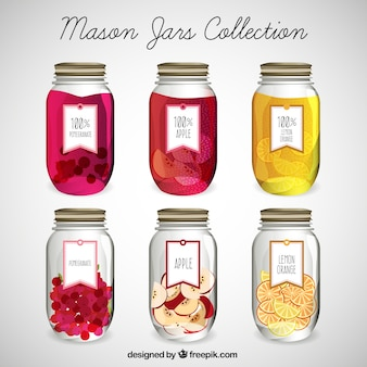 Dessiné mason jars set