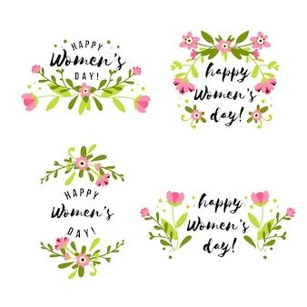 Dessiner avec la collection d'insignes de la journée des femmes