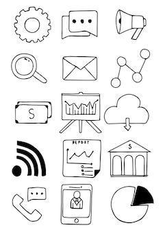 Dessinés à la main des affaires doodle
