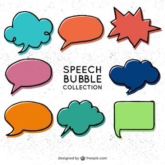 Dessinés à la main des bulles dans le style comique