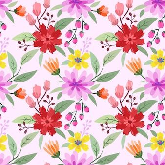 Dessinés à la main coloré fleurs sans soudure modélisme. peut utiliser pour le papier peint en tissu textile.