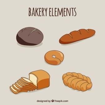 Dessinés à la main délicieux pains