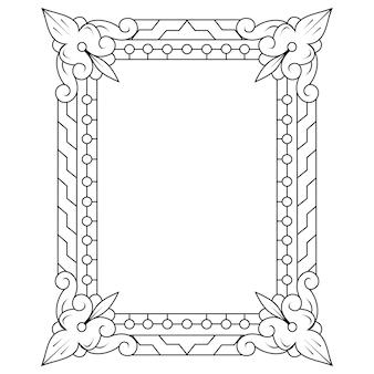 Dessinés à la main du cadre dans le style zentangle