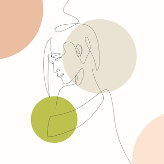 Dessinés à la main minimal femme une ligne style dessin arta