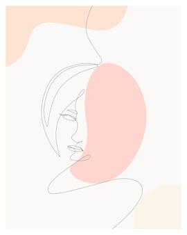 Dessinés à la main minimal femme une ligne style dessin artc