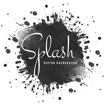 Dessinés à la main noir splash aquarelle douce