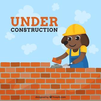Dessinés à la main sous le fond de construction