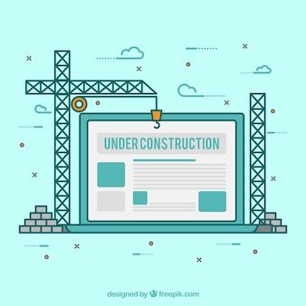 Dessinés à la main sous le modèle de construction