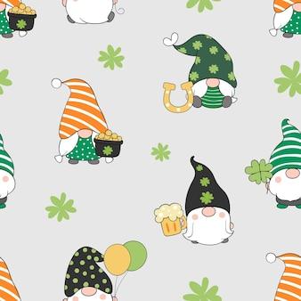 Dessinez un gnome sans couture pour la saint-patrick