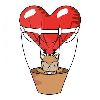 Dessins animés d'amour et d'animaux
