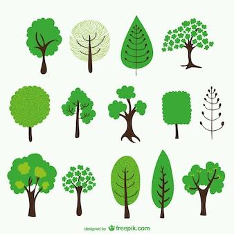 Dessins animés d'arbres emballent