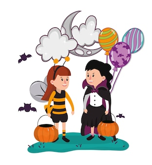 Dessins animés enfants halloween