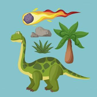 Les dessins animés d'extinction des dinosaures