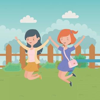 Dessins animés filles adolescentes