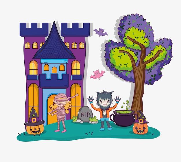 Dessins animés halloween et enfants