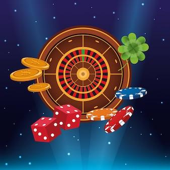 Dessins animés de jeux de casino
